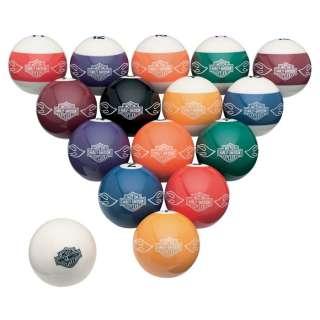 DAVIDSON Bar & Shield Flames Logo Custom Billiard Ball Set 16 Balls