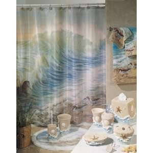 SHOWER CURTAIN fabric bath accessory home decor Home & Kitchen