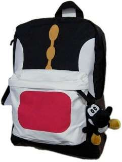 Super Mario Bros BLACK YOSHI NINTENDO School Backpack Bag BRAND NEW