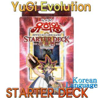 Yu Gi Oh Official Cards games Starter Deck Yugi Evolution Korean