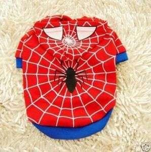 pet dog cat spiderman T Shirts apparel dress clothes