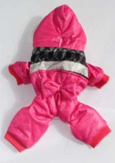 pet dog cat winter warm clothing clothes coat jumper hoodies hot pink