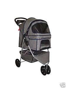 BestPet Gray Pet Dog Cat Stroller Carrier w/Rain Cover