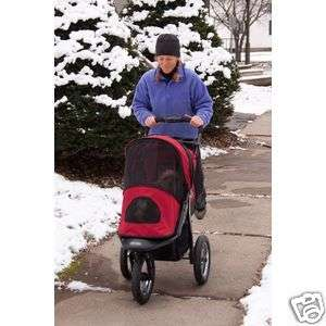 Pet Gear All Terrain Jogger Dog Stroller in Burgundy for Pets up to 75
