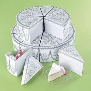 Wedding Cake Slike Treat Favor Boxes   20 pcs Health
