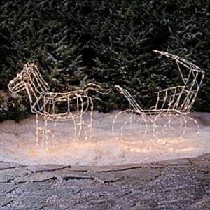 Horse & Carriage Christmas Yard Decoration Outdoor Indoor Light