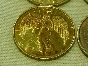 Angel Goldtone Pocket Protector Coin Religious Lot of 6