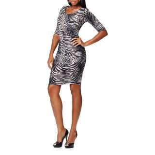 Miss Tina   Womens Ruched Jersey Dress Women