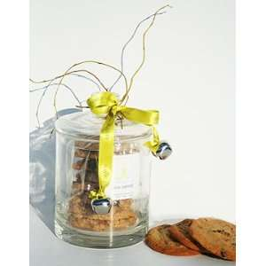 Chocolate Chip Cookies in Handblown Glass Cookie Jar