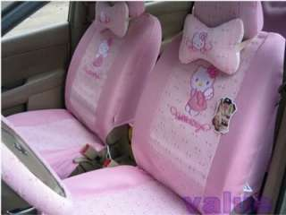 New Hello Kitty Cute Car Seat Covers 16pcs Pink