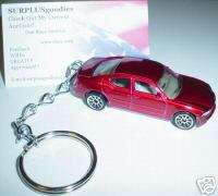 2006 2007 DODGE CHARGER RED Key Chain Keychain Ring NEW