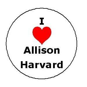 I Love Allison Harvard Pinback Button Heart Pin ANTM