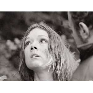 Diana Rigg During the Filming of a Midsummer Nights Dream, October