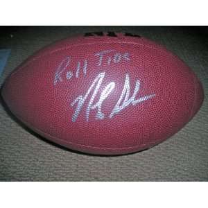 Nick Saban signed autographed Wilson football University