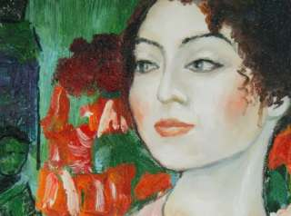 Gustav Klimt Abstract Art Woman Dancer Figure Repro 36X24 Oil Painting