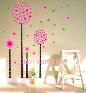 FLOWER TREE Girl Kids Bedroom Nursery Removable Wall Stickers Decal