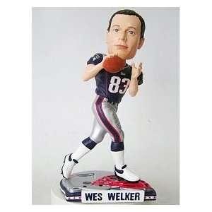 Wes Welker New England Patriots Helmet Base Bobblehead