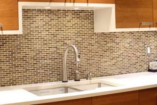 iridescent subway mosaic glass tile kitchen backsplash bathroo