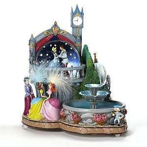 Disney Princess Cinderella Prince Charming Castle Snowglobe with