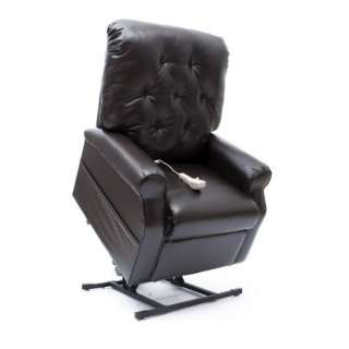 Position Reclining Power Lift Chair Chestnut, Faux Leather Recliner