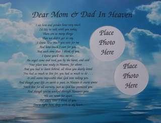 DEAR MOM & DAD IN HEAVEN POEM MEMORIAL VERSE IN MEMORY