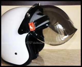 MOTORCYCLE Open face helmet BUBBLE Shield Visor HH