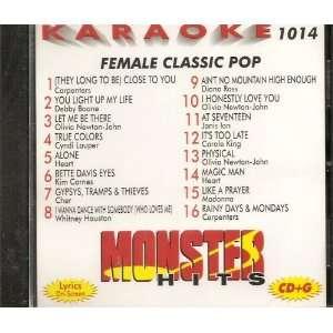 Monster #1014 Karaoke CDG FEMALE CLASSIC POP & OLDIES