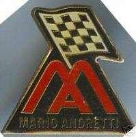Mario Andretti Hat Pin Indy Car Rare