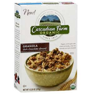 Cascadian Farm Organic Dark Chocolate Almond Granola, 13