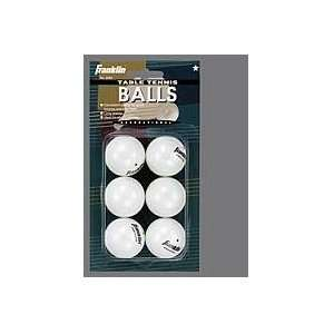 Franklin Sports 2282 6 Pack White 1 Star Table Tennis