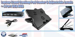 High Quality USB 3 Fan Laptop Stand Cooling Pad Cooler 6 Adjustable