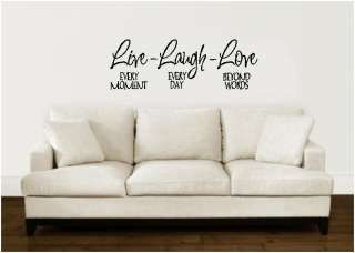 Live Laugh Love Wall Decal Sticker Lettering Vinyl Word