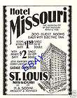 1930 HOTEL MISSOURI AD ST. LOUIS SODINI MANAGER GARAGE