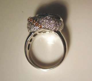 truly unique 14k white gold love knot ring set with 1 20cts of fine