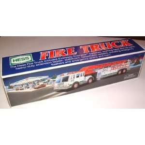 2000 HESS COLLECTIBLE FIRE AERIAL LADDER TRUCK MINT NIB: Toys & Games