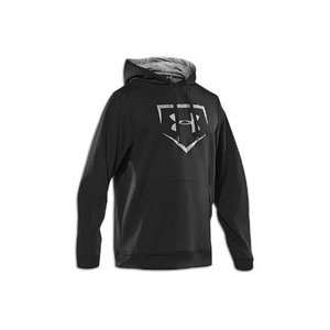 Under Armour Cage To Game Hoodie   Mens   Black/Baseball