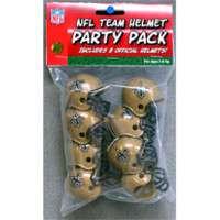 PARTY PACK NFL FOOTBALL HELMETS NEW ORLEANS SAINTS