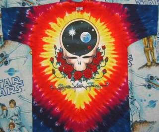 vtg GRATEFUL DEAD Space Your Face tie dye t shirt L 1992 Deadstock nos