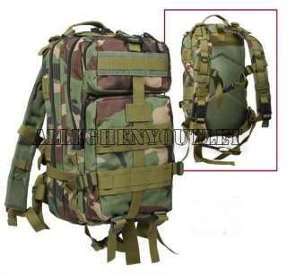 Medium Transport MOLLE Assault Pack Bag Backpack Woodland New