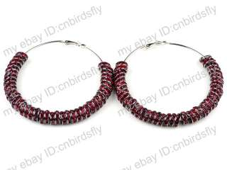 Crystal Rhinestone hoops Poparazzi Inspired Basketball wives Earrings