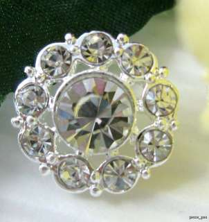 Sparkling Crystal Rhinestone Round Buttons #S22