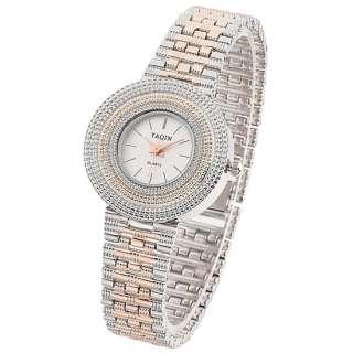Fashion Jewelry Gift Rose Gold Plated Quartz Wrist Watch Lady Girls