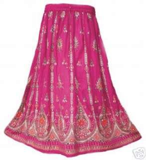 Bohemian Hippie Hippy Tribal Peasant Sequin Skirt Boho Indian Gypsy