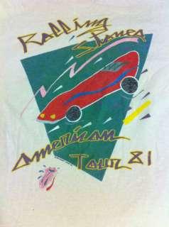 ROLLING STONES US 1981 CONCERT TOUR vtg T Shirt