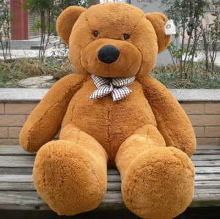 47 Giant Big plush teddy bear Brown White Dark 3.90 ft