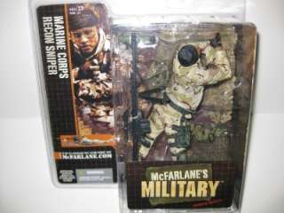 McFarlane Military Series 1 Marine Recon Sniper w/case