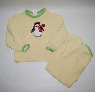 Boys Girls Lands End Polar Fleece Pajamas Set Penguin M 5 6 Holiday