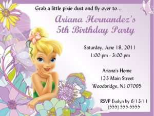 Tinkerbell Invitations/Birthday Party Supplies