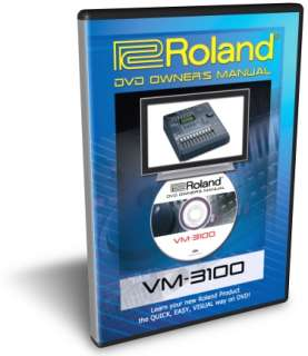 Roland VM 3100 / Pro DVD Video Tutorial Manual Help