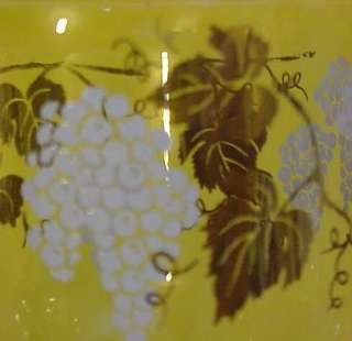 grape leaf bunch clear glass small vintage covered candy dish